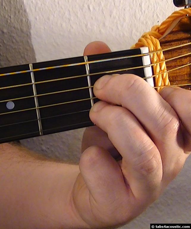 Picture of the guitar chord : Am7/b5