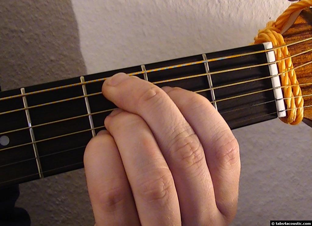 how to hold a guitar thumb positioning