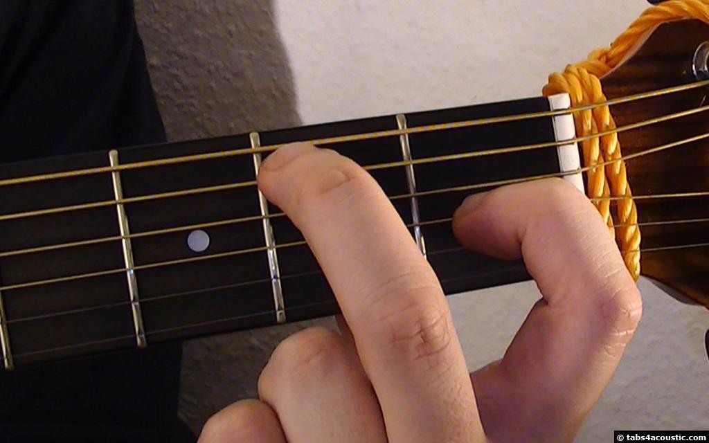 partition guitare seul sur le sable