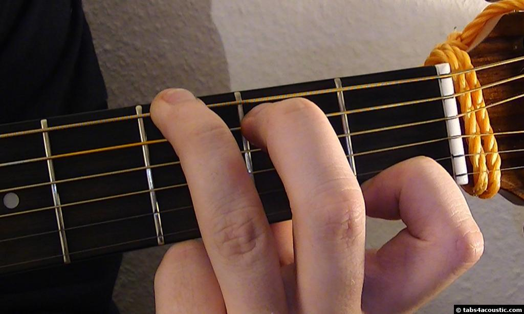 Photo de l accord guitare g7