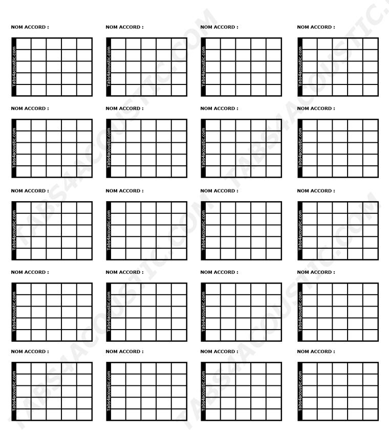 blank guitar chord chart paper