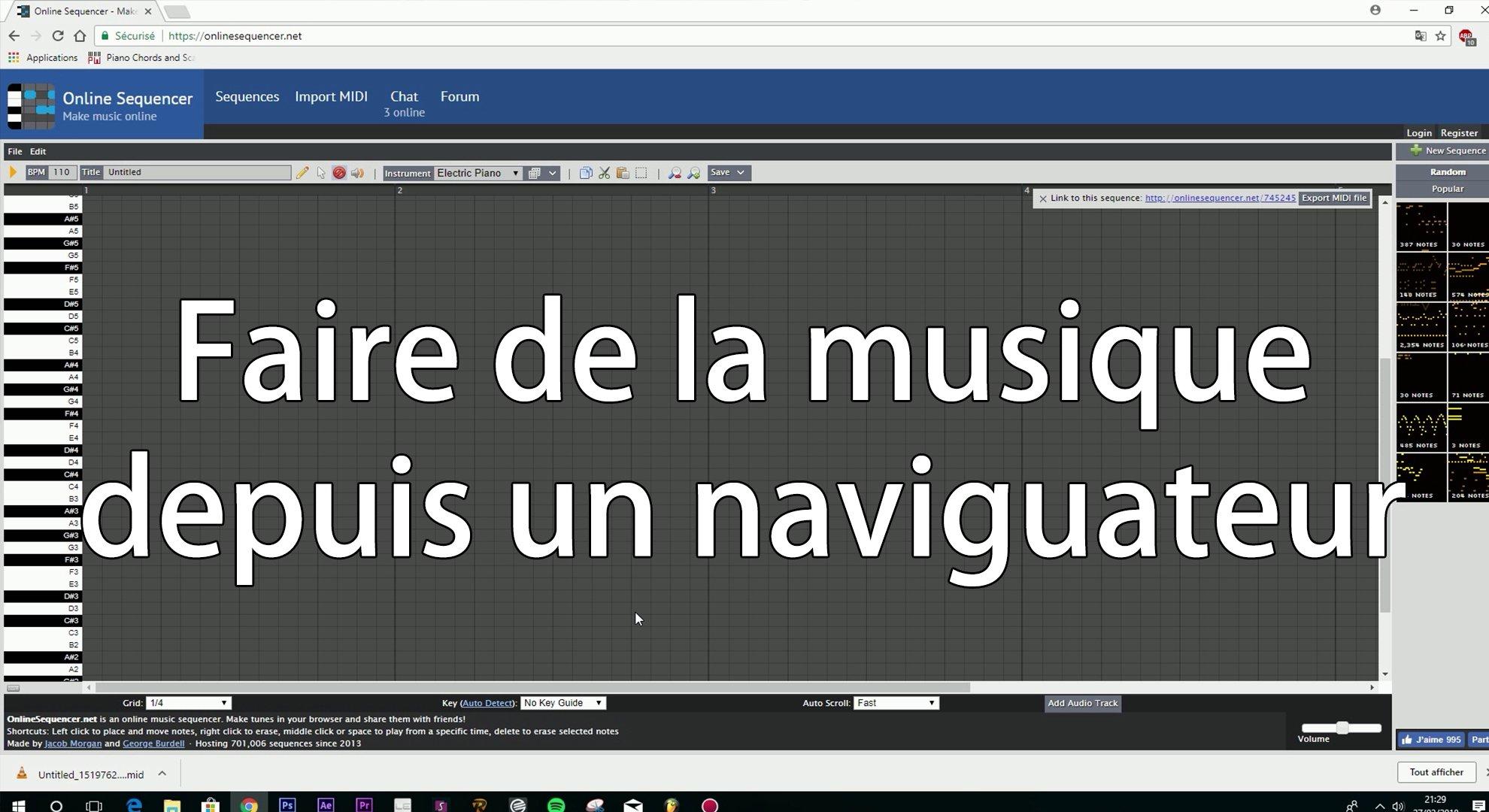 EZSMUSIC -  Créer de la musique depuis un naviguateur