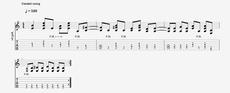 Aerosmith - Mama Kin guitar riff
