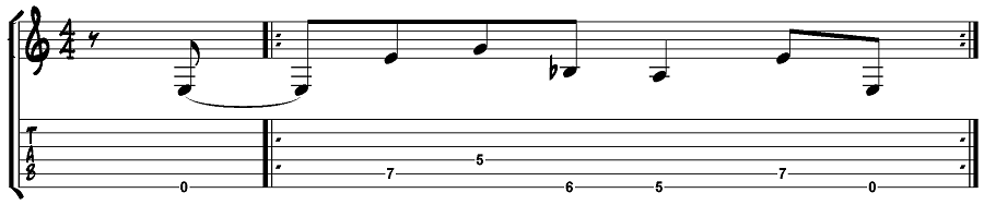 Metallica - Enter Sandman guitar riff