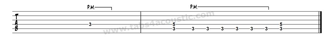 Exemple écriture palm-mute