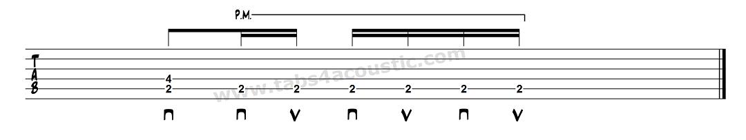 Exemple de rythmique avec du palm-mute
