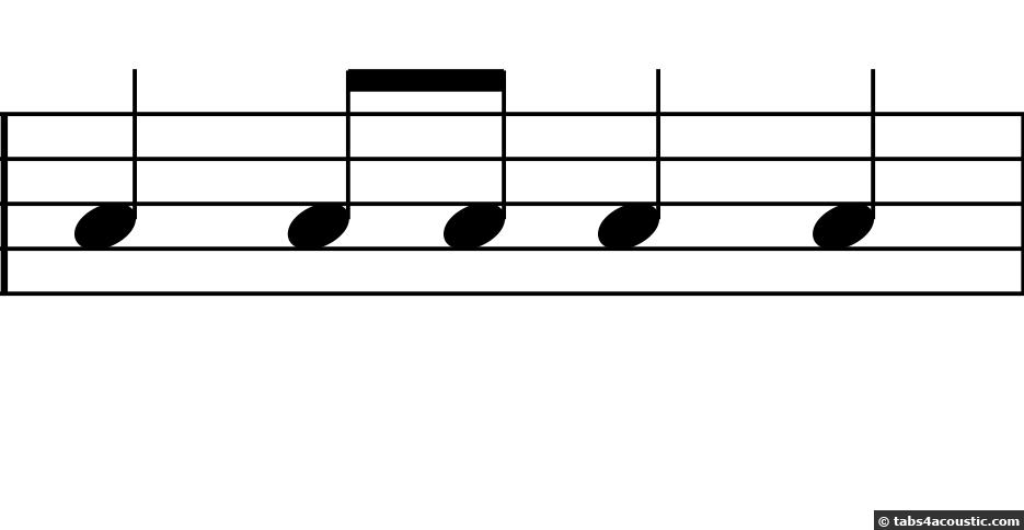 Premier exemple de rythme, sans demi-soupir