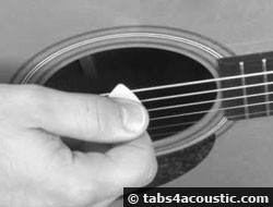 Comment tenir médiator guitare