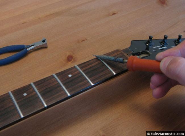 defrettage frettes guitare