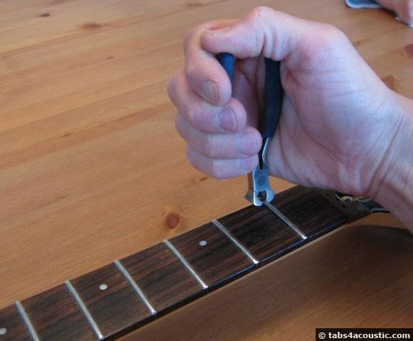 retirer frette manche guitare
