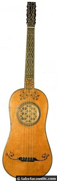 guitare au 16eme siècle