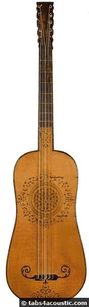 guitare au XVIIeme siecle