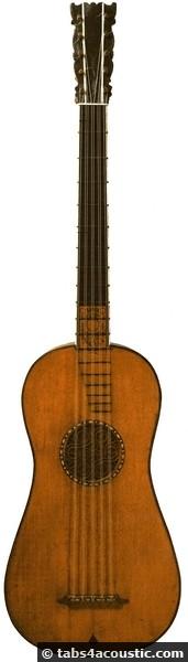 guitare XIXème siècle
