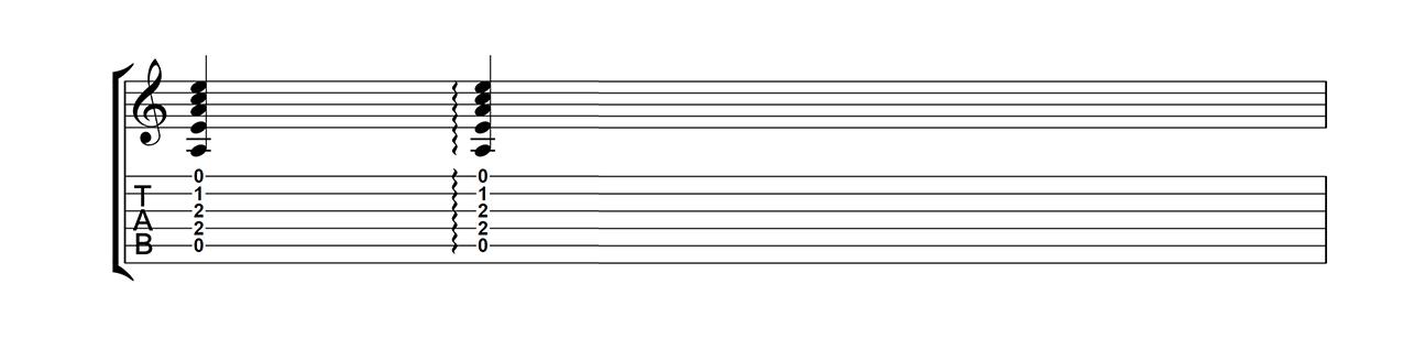 Symbole d'écriture des rolled chords