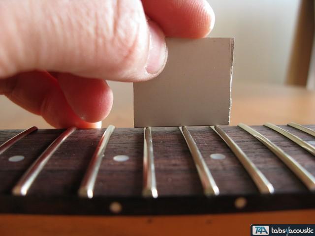 surfaçage frettes guitare #2