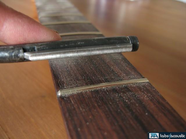 surfaçage frettes guitare #4