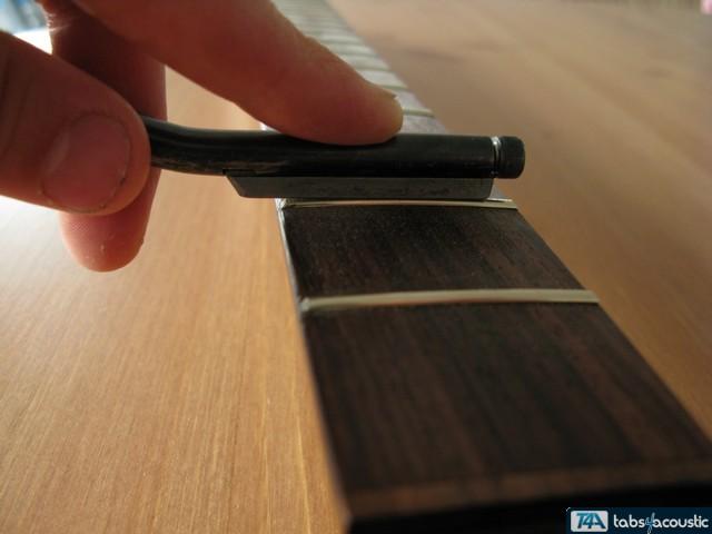 Surfaçage frettes guitare #4b