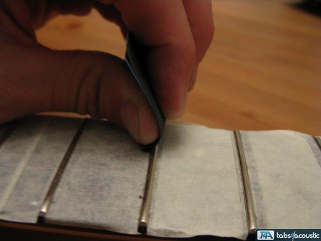 Surfaçage frettes guitare #5b